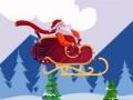 Pomóż Mikołajowi wygrać coroczne zawody w lotach długodystansowych.  Sterowanie: Myszka
