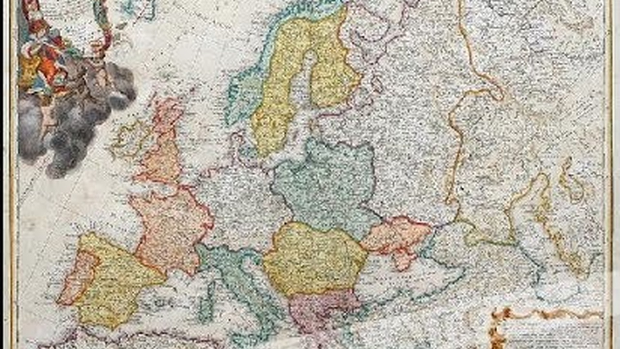 Mapa Polityczna Europy Z Pol Xviii W Wideo W Cda Pl