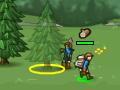 Znakomita gra strategiczna! Zbieraj zasoby - drewno, jedzenie, kamienie oraz złoto. Poluj na zwierzęta, eksploruj, buduj wieże obronne. Podbijaj sąsiednie krainy, aby zdobyć panowanie w całym królestwie.  Sterowanie = MYSZKA (lewy i prawy przycisk)