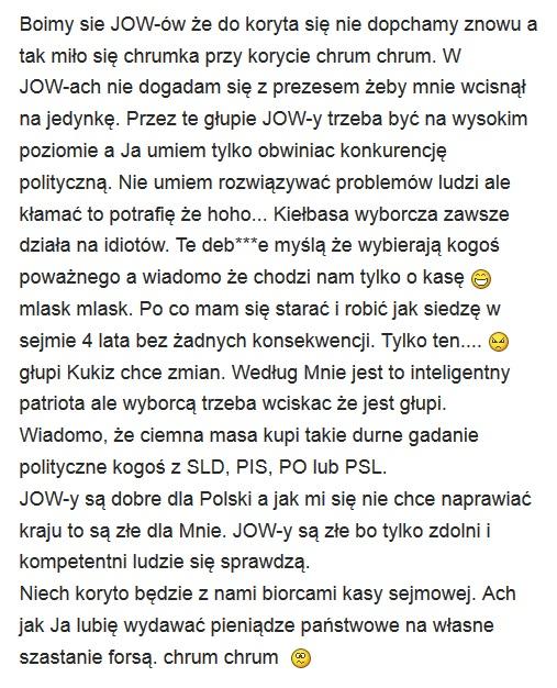Polityk myśli :)