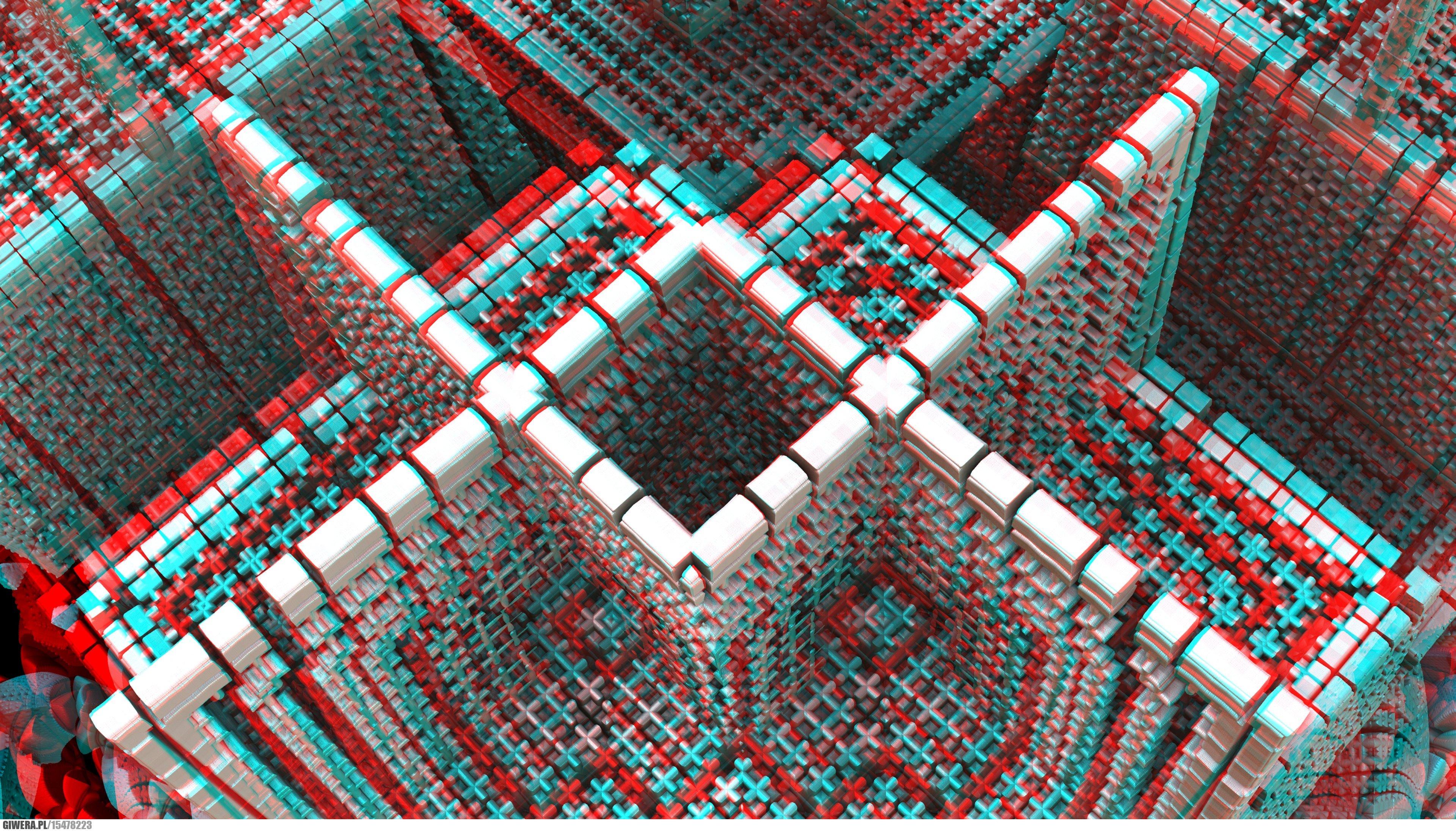 grafika 3d anaglyph red cyan potrzebne okulary 3d. Black Bedroom Furniture Sets. Home Design Ideas