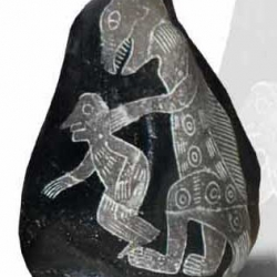 Kamień z Ica - człowiek i dinozaur
