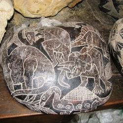 Kamień z Ica - Peruwiańczycy żyli razem z dinozaurami