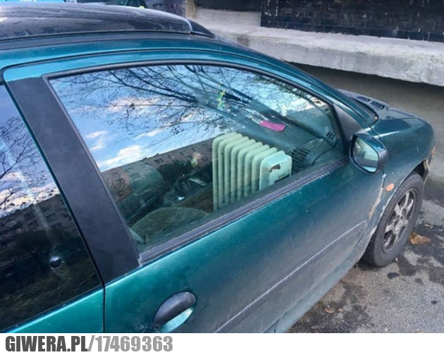 Ogrzewanie auta,grzejnik