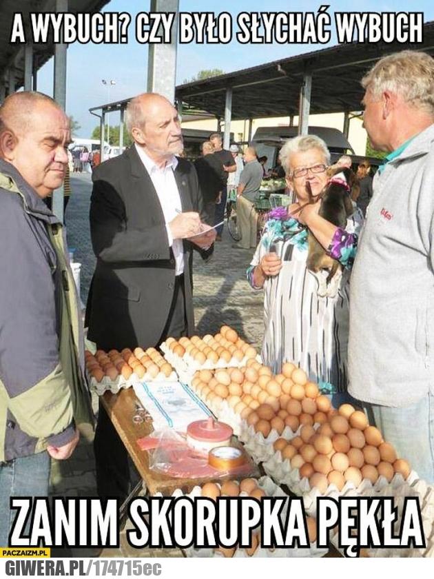 wybuch,Macierewicz,jajko,skorupka
