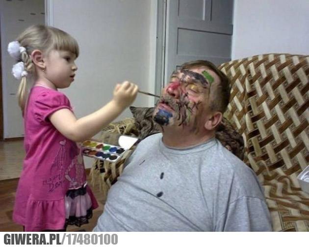 Kochana wnuczka,malowanie,farbki