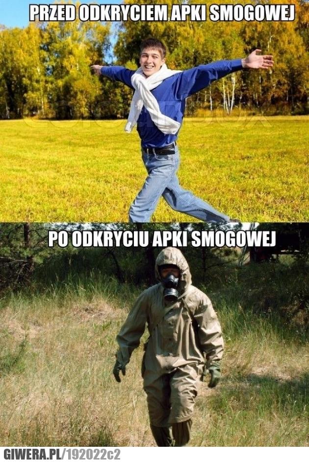 Przed i po odkryciu apki smogowej