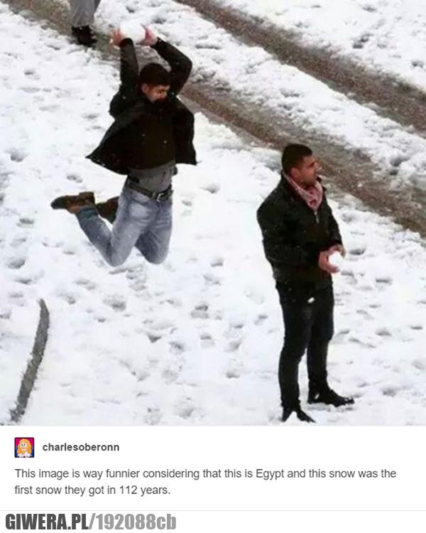 Egipt - pierwszy śnieg od 112 lat