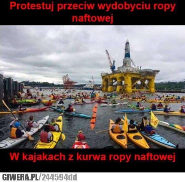 Protest,ropa,nafta