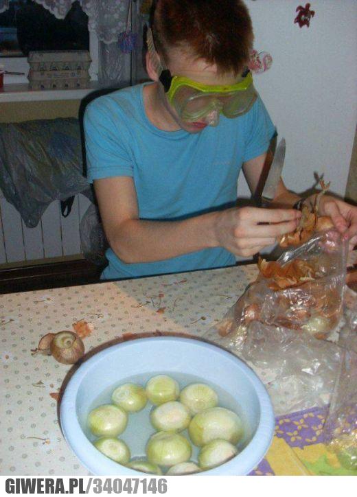 cebula,łzy,gogle,gotowanie