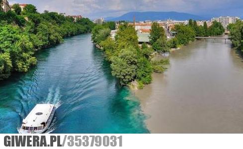 Spotkanie dwóch rzek. Rodan i Arve -Szwajcaria