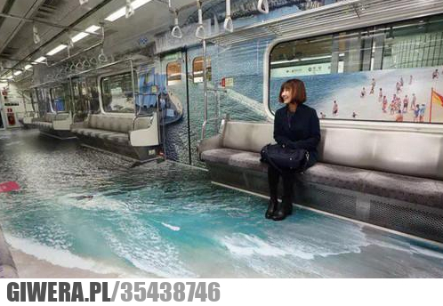 Reklama w metrze w Seulu