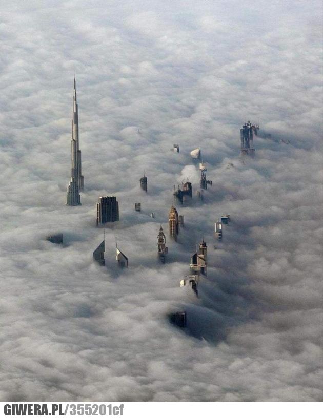 Dubaj,Chmury,Earthporn,wierzowce