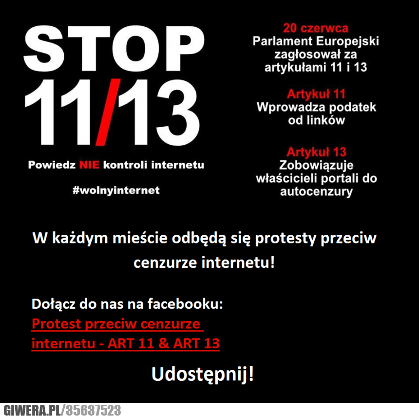 acta, internet, cenzura, wolność