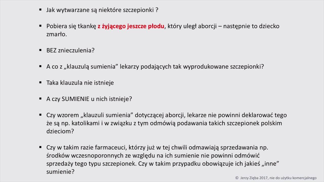 Jerzy Zięba - Szczepionki film cz. 13
