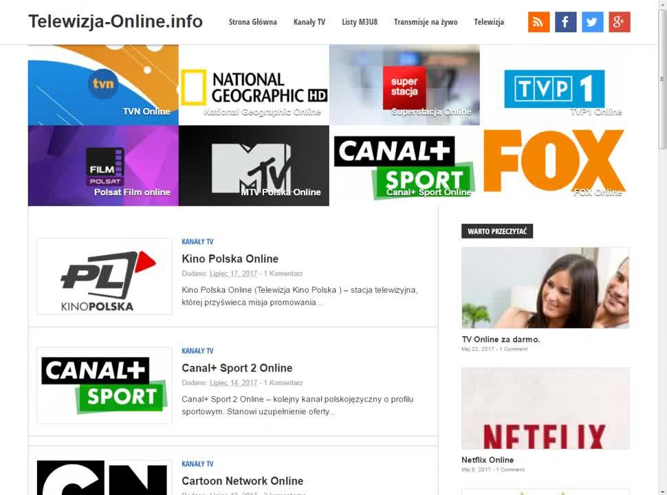 Telewizja-Online. info - Darmowa Telewizja Internetowa ...