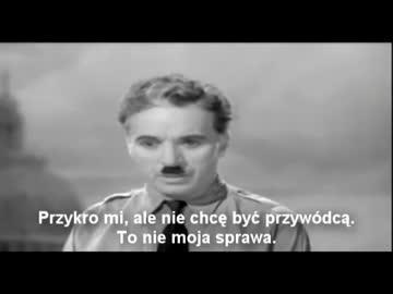 Najlepsza przemowa w historii - Charlie Chaplin NAPISY PL