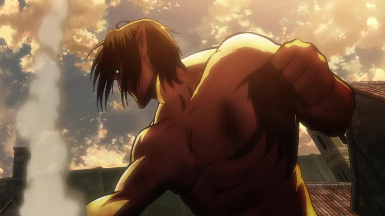 Shingeki no Kyojin (Atak Tytanów`) Odc 12 Rana - Obrona Trostu