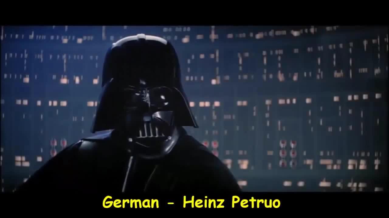 Luke I am your father - 'Luke jestem twoim ojcem' w różnych językach