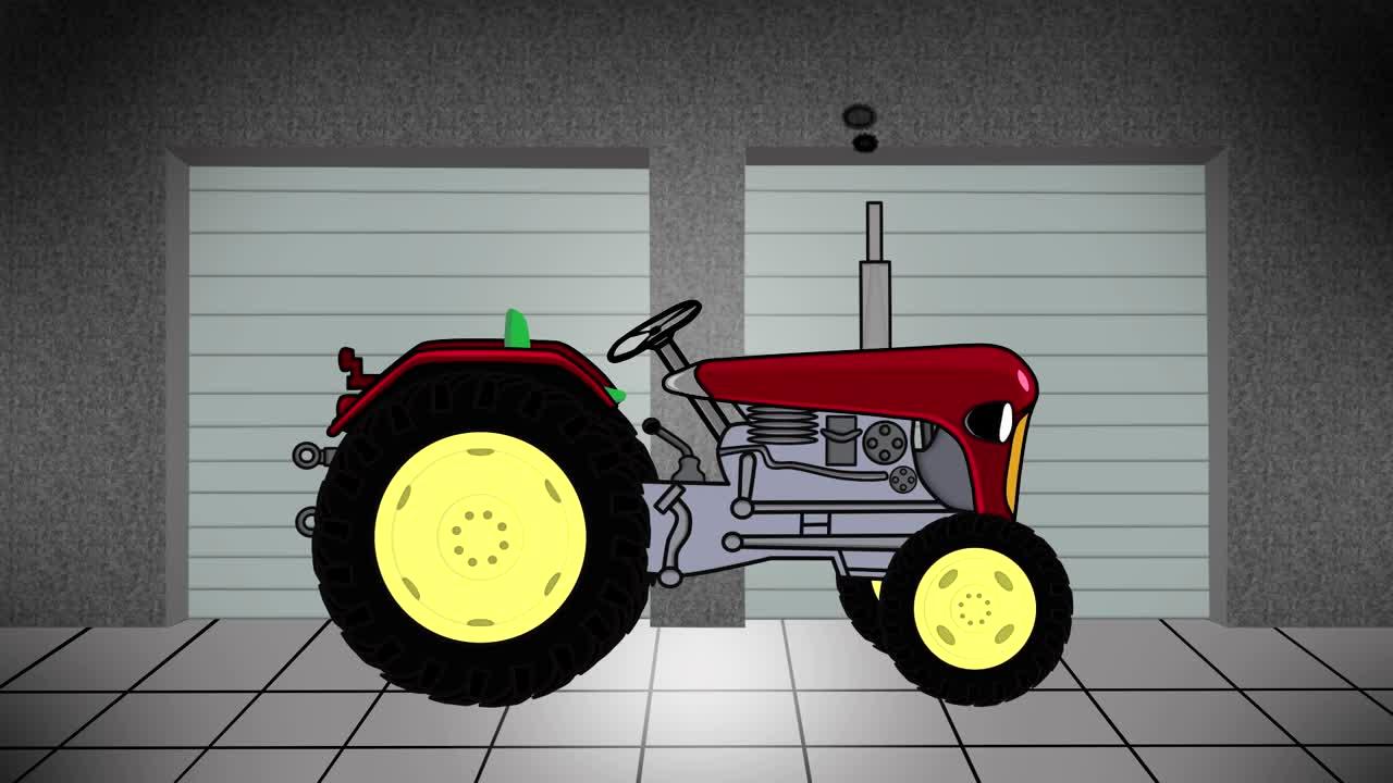 Garage traktor konstrukcja bajki traktor wideo w for Garage cda chilly