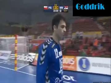 Ostania akcja w meczu z Serbami - 17 01 2013