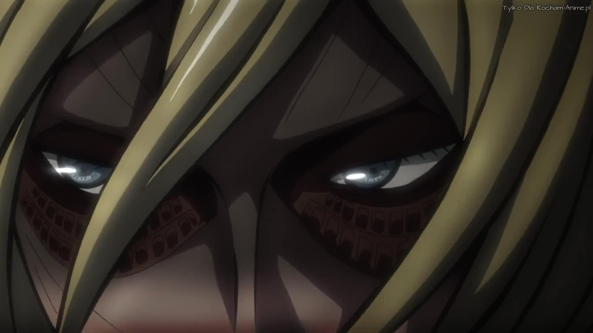 Shingeki no Kyojin (Atak Tytanów`) Odc 19 Ugryzienie - 57 wyprawa poza mury