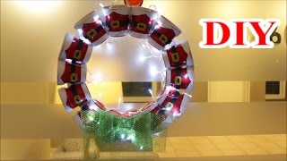 Diy Crafts Ideas Diy Christmas Lantern Wreath Out Of Recycling Plastic Cups Best Out Of Waste