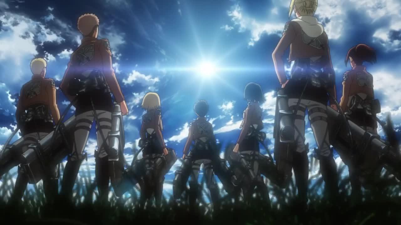 Shingeki no Kyojin (Atak Tytanów`) Odc 7 Krótkie ostrze - Obrona Trostu