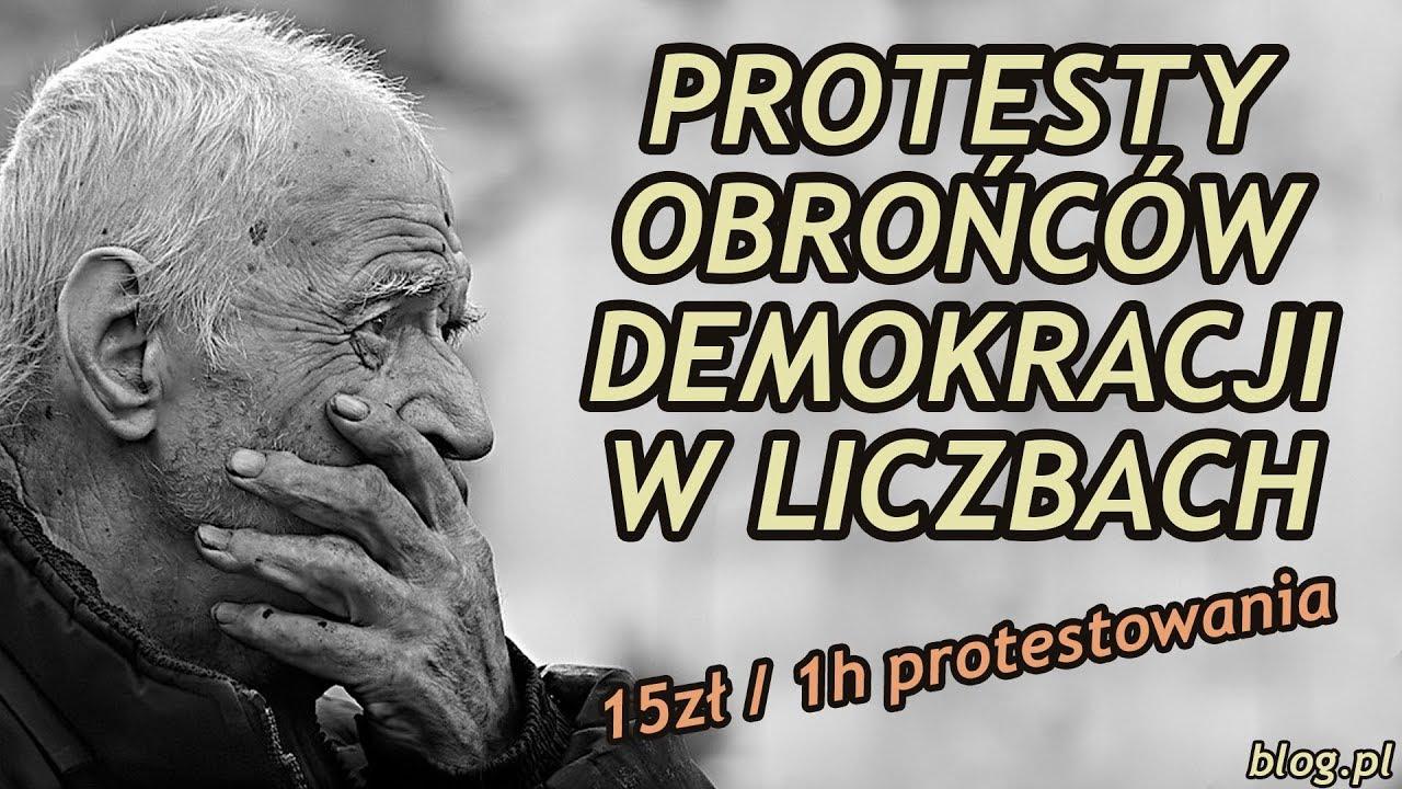 Protesty KOD'u w liczbach! Szukają statystów na OLX !?!