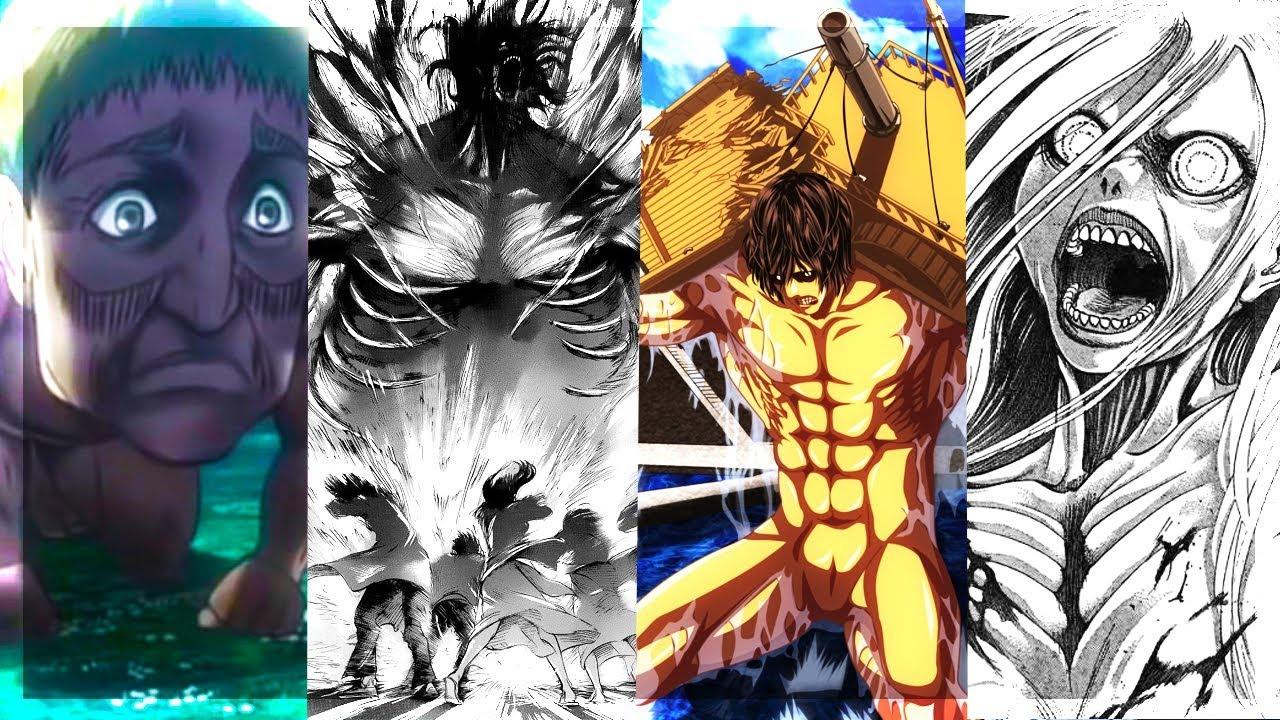 UMIEJĘTNOŚCI TYTANÓW (Attack titan, Speaking titan, Invincible titan, Heavy titan) - ATAK TYTANÓW