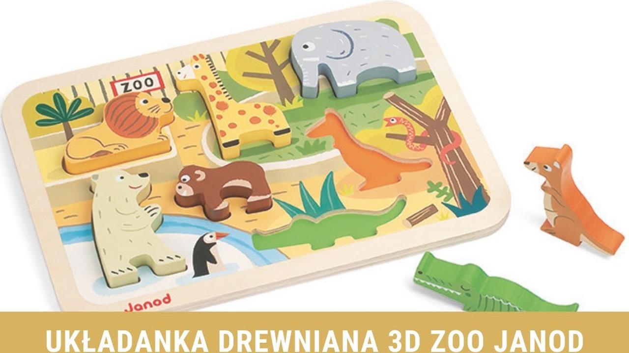 Układanka drewniana 3D Farma Janod CDA