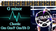 Emotional Mournful Rock Ballad Style Guitar Backing Track - G Minor | 75 bpm [NCTracks Release]