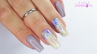 Violet flowers nails art tutorial / Allepaznokcie / Molly Lac