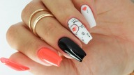 Minimalism icon valentines nails art tutorial / Allepaznokcie /Molly Lac