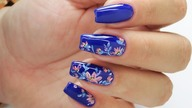 Flowers pattern design nails art tutorial / Eveline Cosmetics