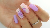 Violet flowers nails art tutorial step by step / Stardoro Nails / Cuccio