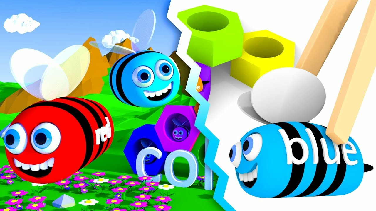 Bees in beehives for kids with colors learning | CzyWieszJak