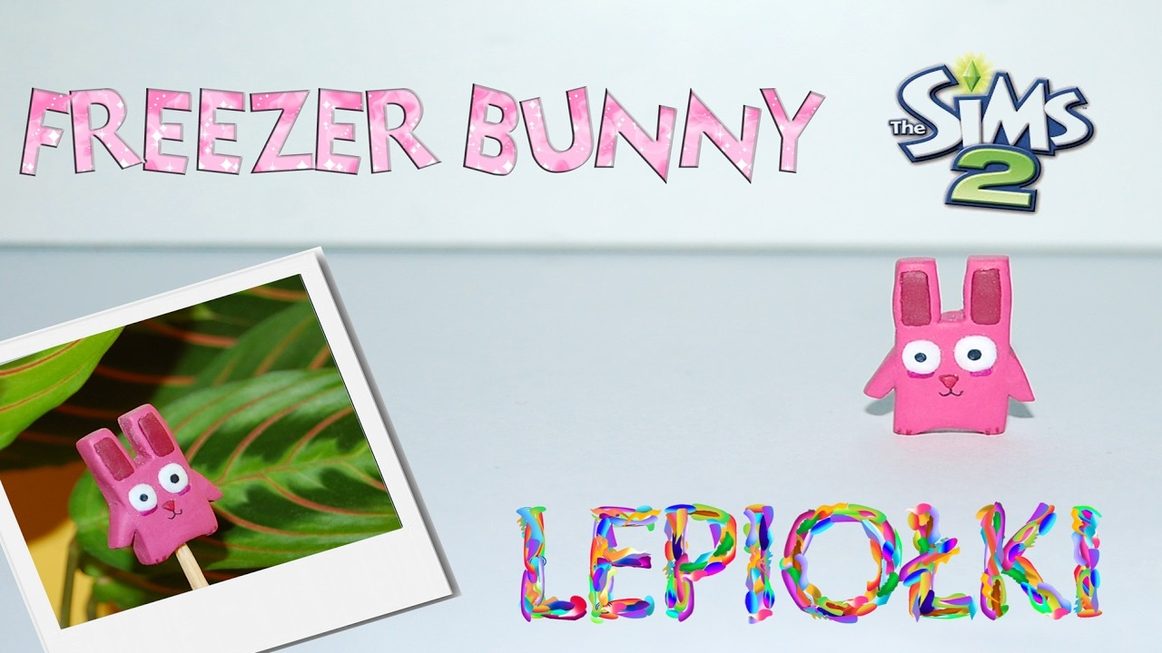 TUTORIAL Freezer bunny The sims 2 polymer clay hand made