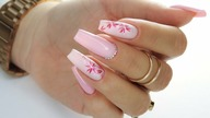 Pastel Pink with little flowers nails art tutorial / Gabrielle Nails / Charbonne