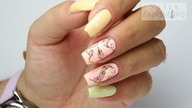 FEATHERS nails art Tutorial step by step / Sunflower Professional
