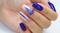 Blue ink nails / Eveline Cosmetics