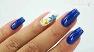 Flowers nails art Tutorial step by step / Colours by Molly #flowersnails