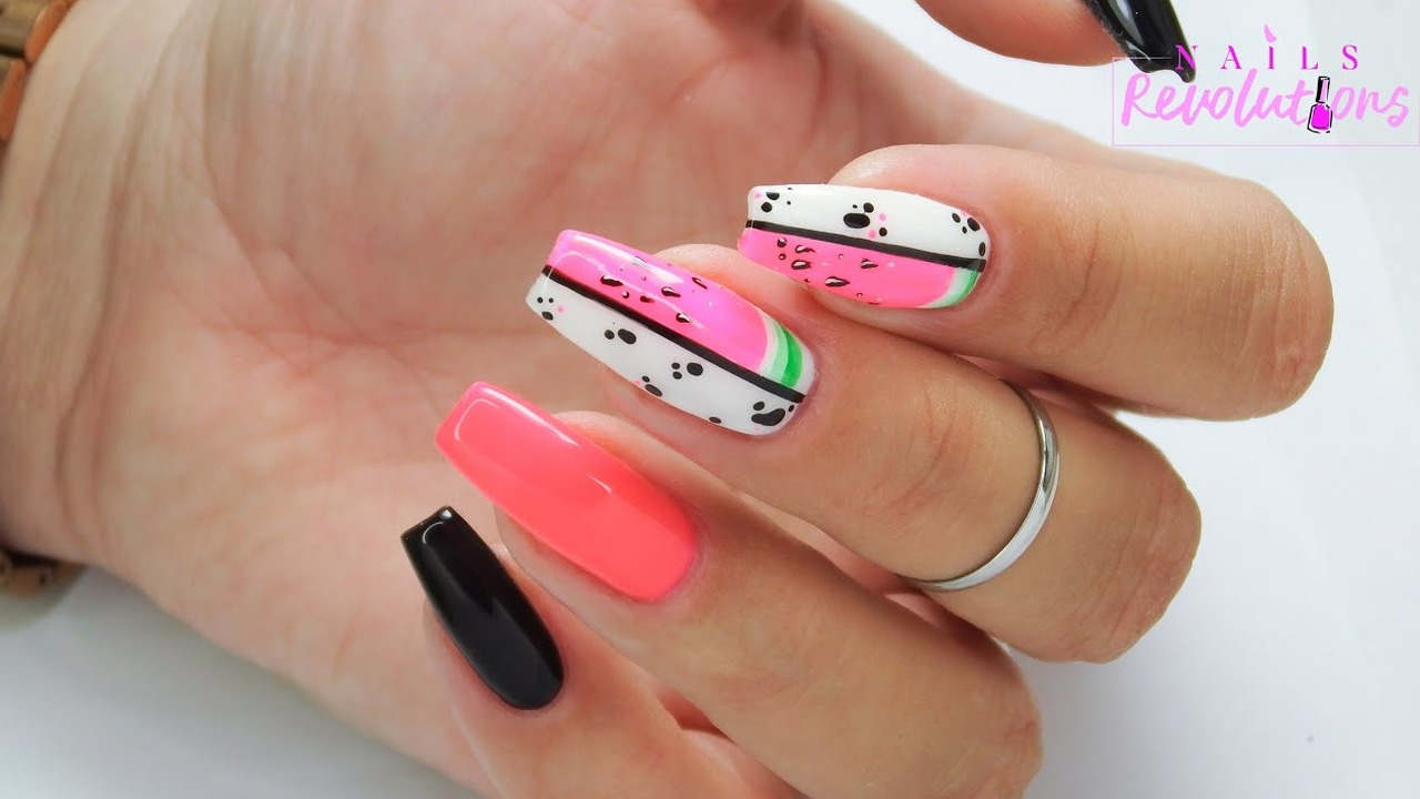 Abstract & watermelon nails / Eveline Cosmetics
