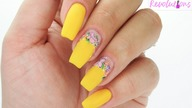 Summer flowers nails art tutorial / Elisium