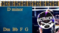 Light Soft Rock Ballad Style Backing Track Guitar Jam - D Minor | 105 bpm [NCTracks Release]