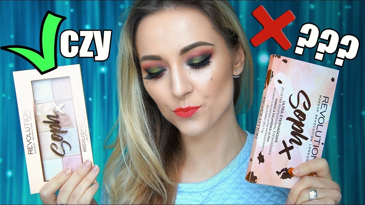Soph X Paleta Cieni & Rozświetlaczy  Makeup Revolution I Hot or Not? Test na Żywo MUR 8h! I Mizia