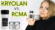 Test KRYOLAN Anti-Shine vs.  RCMA No-Color Powder [cera MIESZANA]
