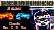 Electro Hard Rock / New Metal Style Guitar Backing Track - E minor | 120bpm [NCTracks Release]