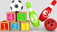 Learn numbers with soccer and bowling for kids | CzyWieszJak