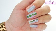 Little Leaves nails art tutorial / Eveline Cosmetics